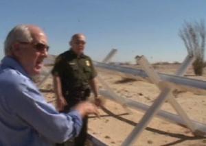 Sen. Harman on border patrol.