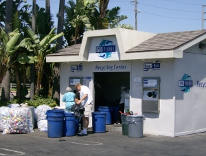 Recycling center located at Garfield and Goldenwest